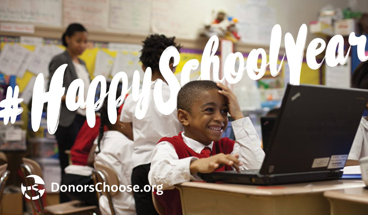 Teachers do great things with limited resources. What could they do this year with the right tools? #HappySchoolYear