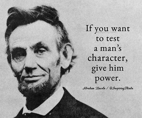 power and the test of character