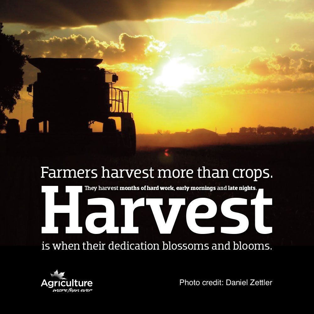 Ag More Than Ever On Twitter Happy Harvest16 Heres To The Hard