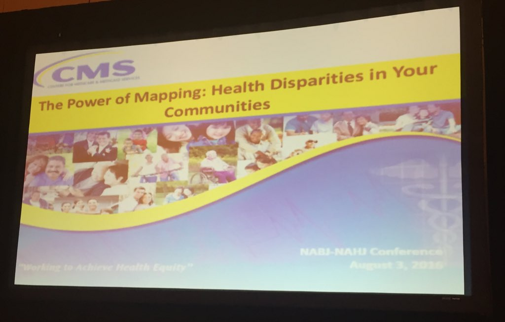 Healthy Disparities = differences in health. Healthy Inequities = unequal causes & solutions in health #NABJNAHJ16 https://t.co/7GLOyDj9ct