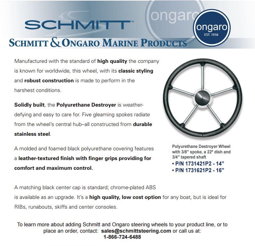 """Stainless Steel Schmitt 17/"""" Six Spoke Destroyer Style"""