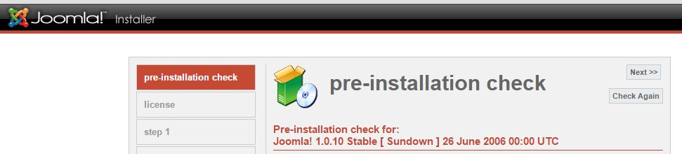 Joomla ready to be installed (?)