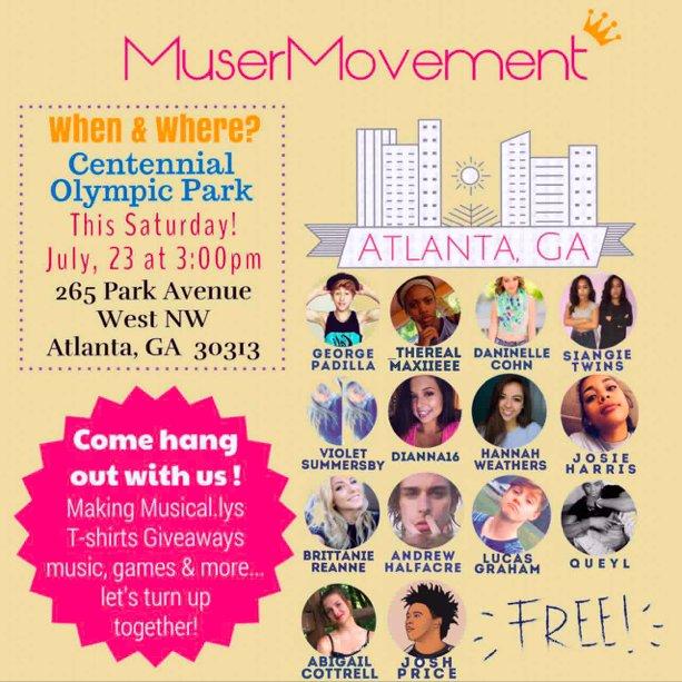 Musical on twitter calling all musers in atlanta ga meet up 246 pm 22 jul 2016 m4hsunfo