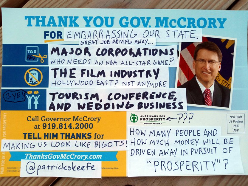 I fixed it.   Thanks @PatMcCroryNC.  #HB2 #ncpol #ncgov #ncfilm #OBX #WeAreNotThis #ThanksMcCrory @JeffJacksonNC https://t.co/Phwe7QgpBk