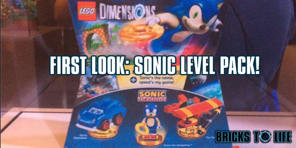 bricks to life on twitter lego dimensions sonic level pack