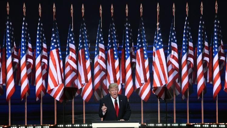 Critics: Trump convention speech signals shift to coded race language