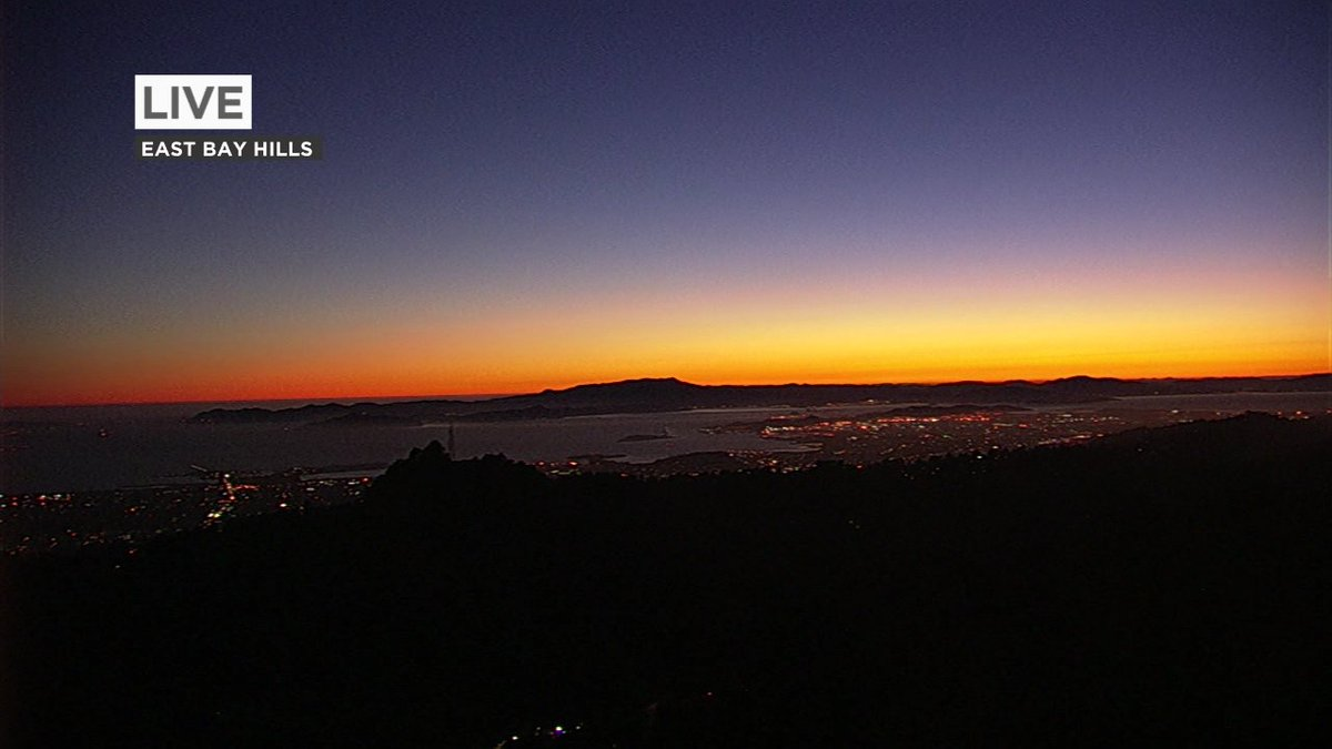 The afterglow from East Bay Hills cam right now