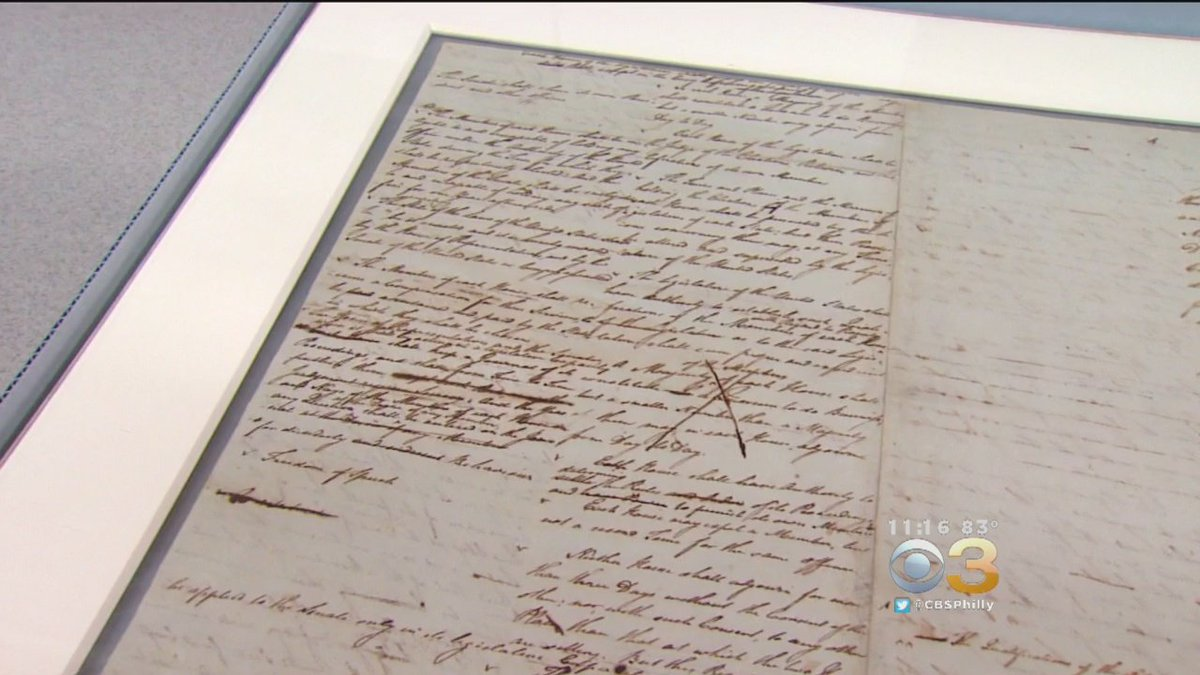 The First Handwritten Draft Of The Constitution On Display In Philadelphia