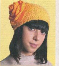 Схема вязания шапки спицами для новорожденных