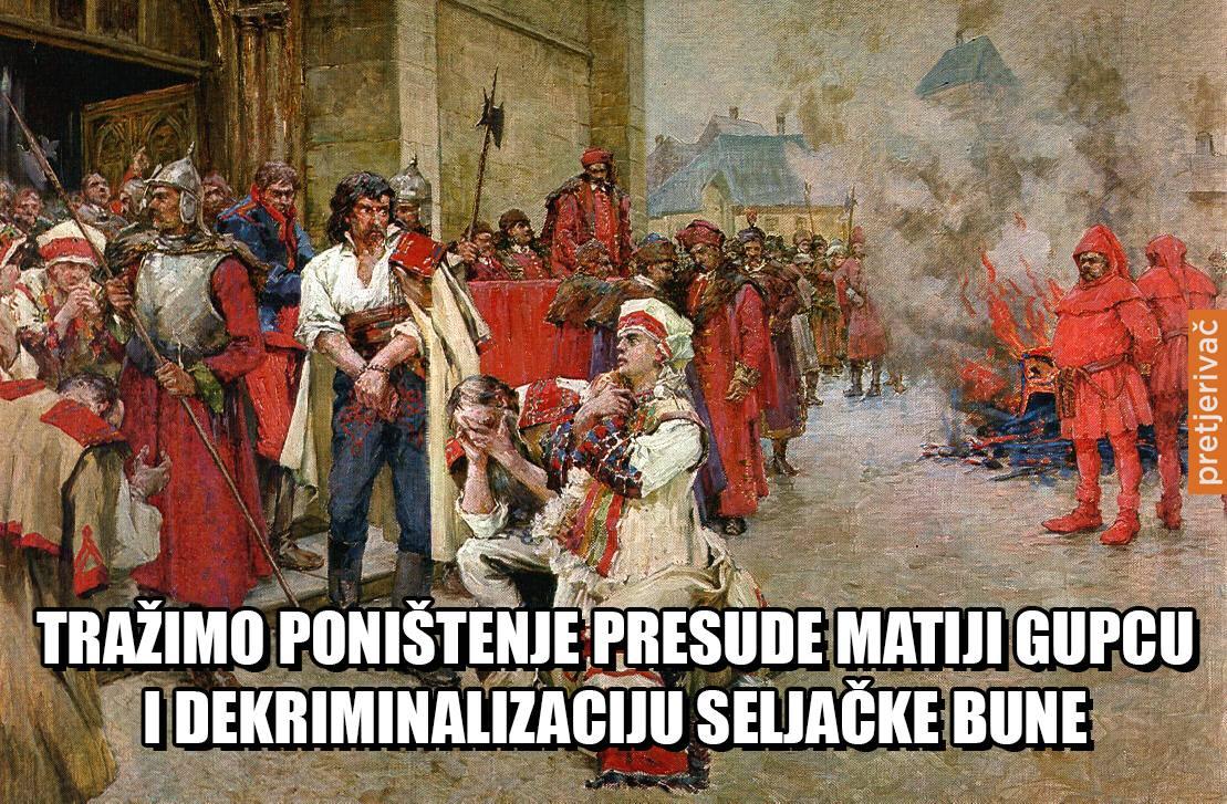 Nakon kardinala, traži se poništenje montiranog procesa Matiji Gupcu, te dekriminalizacija Seljačke bune :P https://t.co/eTOiTU2iFi