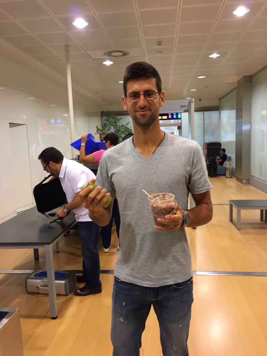 Novak Djokovic On Twitter Sleepy Me Forgot That Security Doesn T Let Us Pass Through W Food So I Camped And Ate Right There 5amwakeup