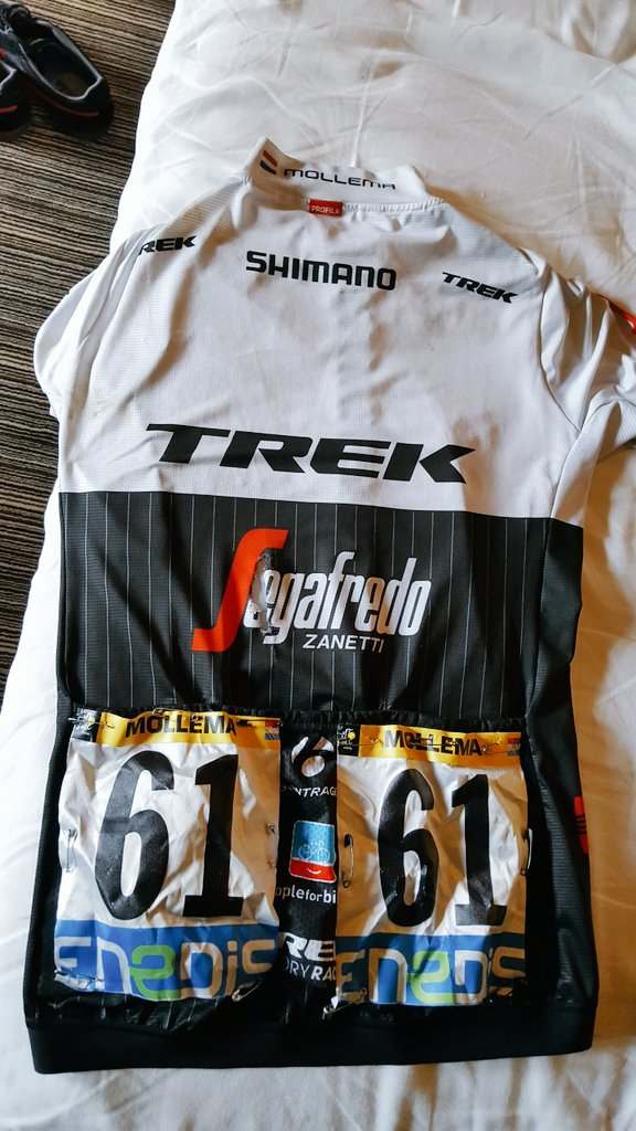 Anyone interested in my #tdf jersey @TrekSegafredo? With some blood, sweat and tears.  Retweet to win. https://t.co/83aX8uElpa