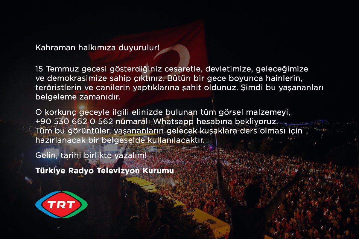 Kahraman halkımıza duyurulur!  Gelin, tarihi birlikte yazalım! https://t.co/SAfNeKStKn