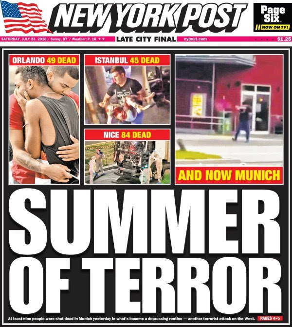 Today's cover: It's been a bloody summer of ISIS-inspired terrorism