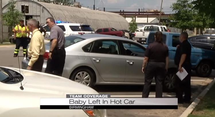 An Alabama 1-year-old is fighting for her life after being left by her father in a hot car