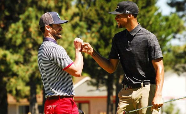 StephenCurry and JustinTimberlake team up to electrify Tahoe celebrity golf tourney.