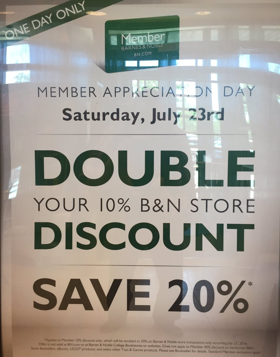 B N Lake Grove Ny On Twitter Today Only Members Save 20