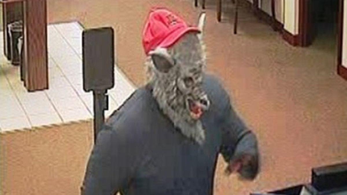 Man wearing wolf mask robs DeKalb bank...