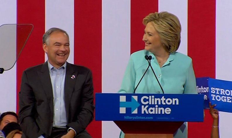 Hillary Clinton says Tim Kaine is