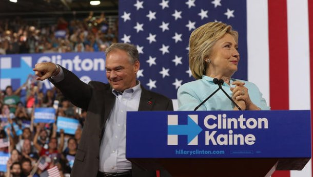 Clinton introduces VP pick Tim Kaine as