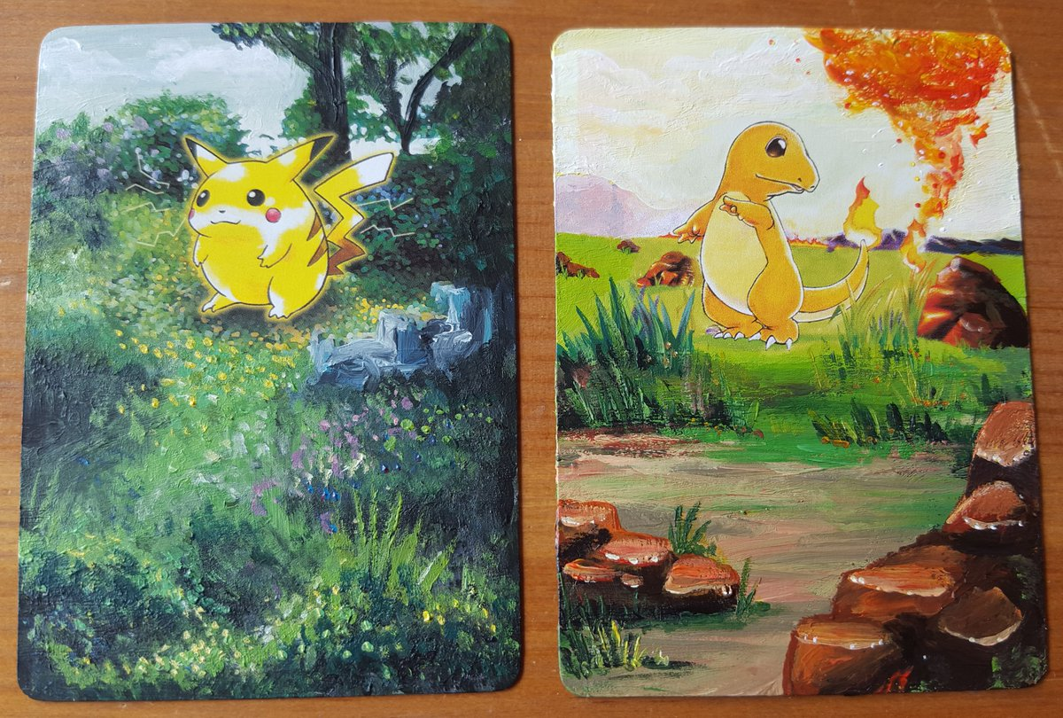 painting over old pok mon cards is more fun than collecting them. Black Bedroom Furniture Sets. Home Design Ideas