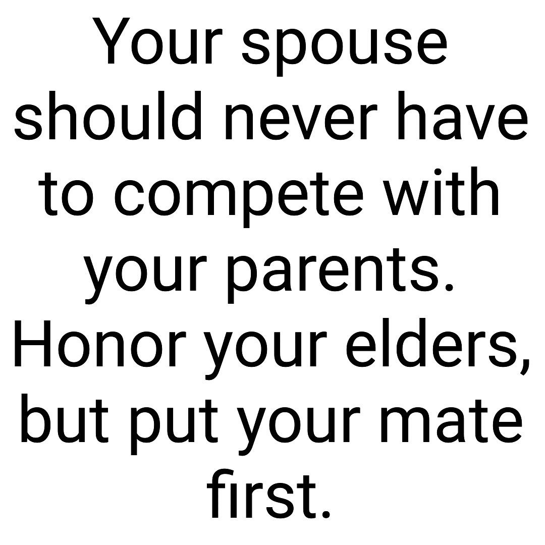 First putting your spouse Why Putting