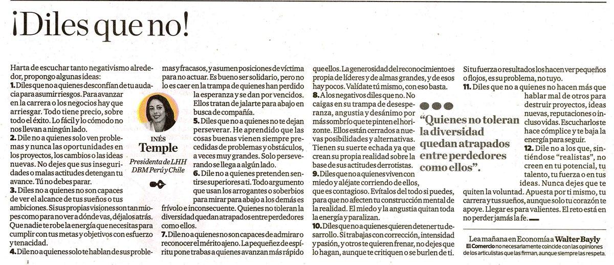 ¿Harto de tanto negativismo alrededor?, propongo algunas ideas para evitarlo. Publicado en Diario El Comercio. https://t.co/qVYjFLKidn