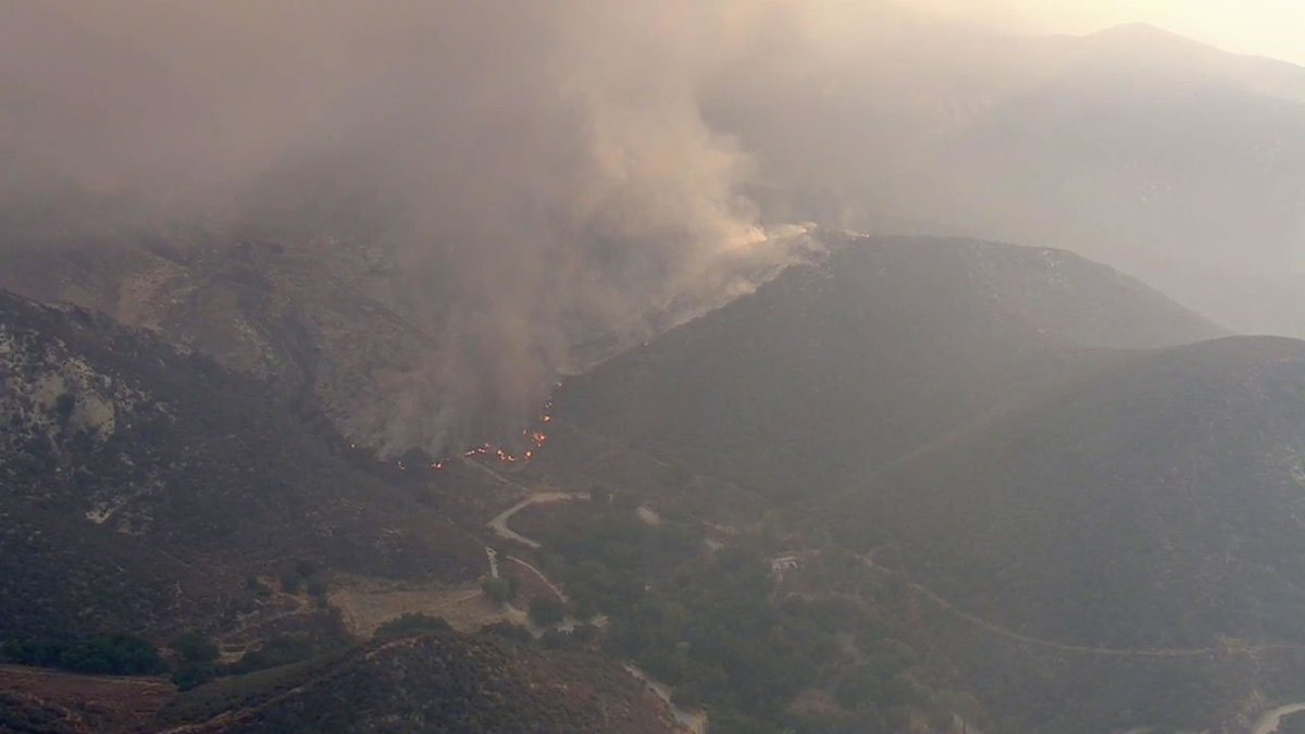 The SandFire in SoCal exploded in size overnight and has burned 11,000 acres.