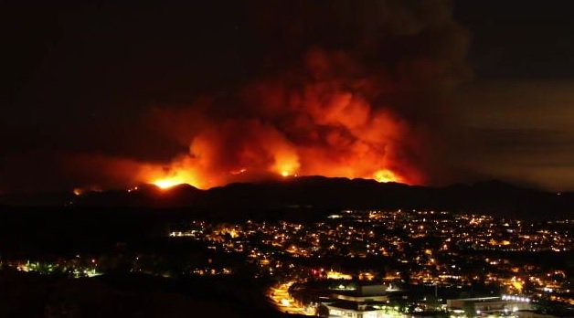 Площадь лесных пожаров в Калифорнии увеличилась в два раза