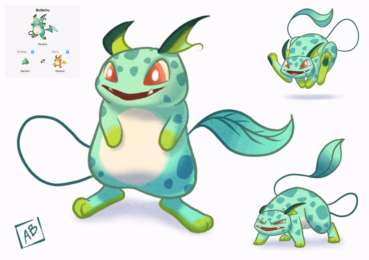 Austin Batchelor On Twitter Starting Some Pokemon Mashups Bulbchu