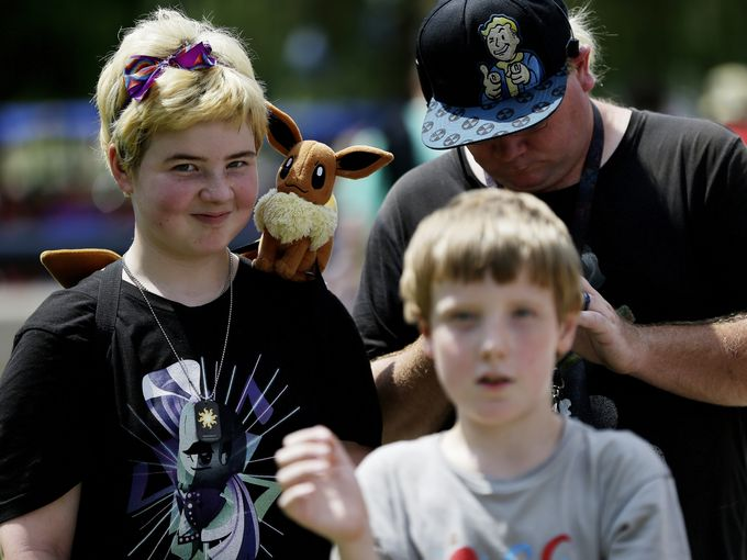 A heat wave couldn't stop Pokemon trainers from gathering in White River State Park.