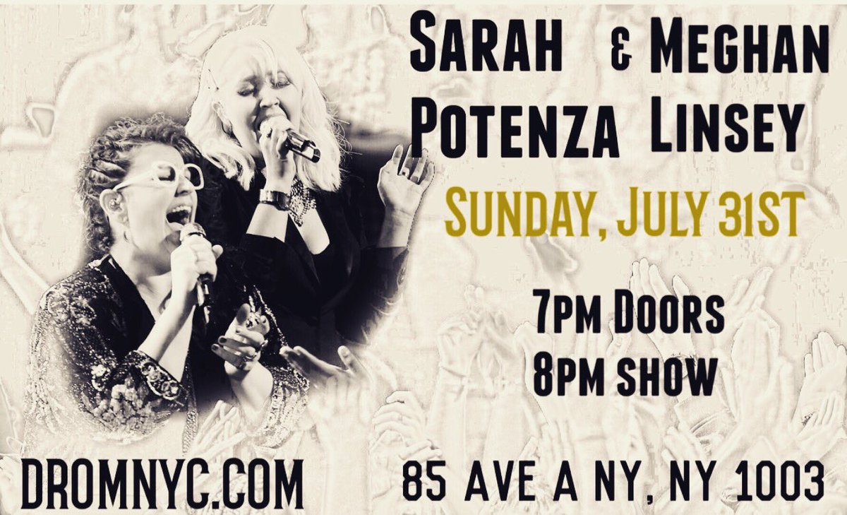 NYC fans!!! You don't wanna miss me and @sarahpotenza next Sunday July 31st @dromnyc !!! https://t.co/rdtC4VX9MD https://t.co/GHPJS10Eh5
