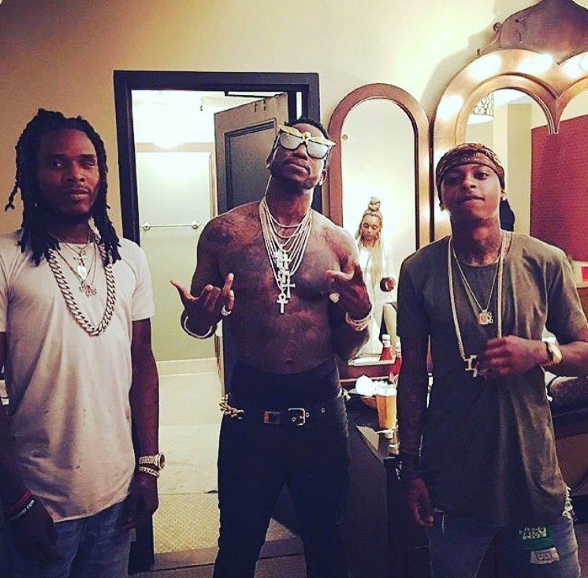83ef0a42452a6e Fetty Wap was very excited to meet Gucci Mane last night (and they  performed together