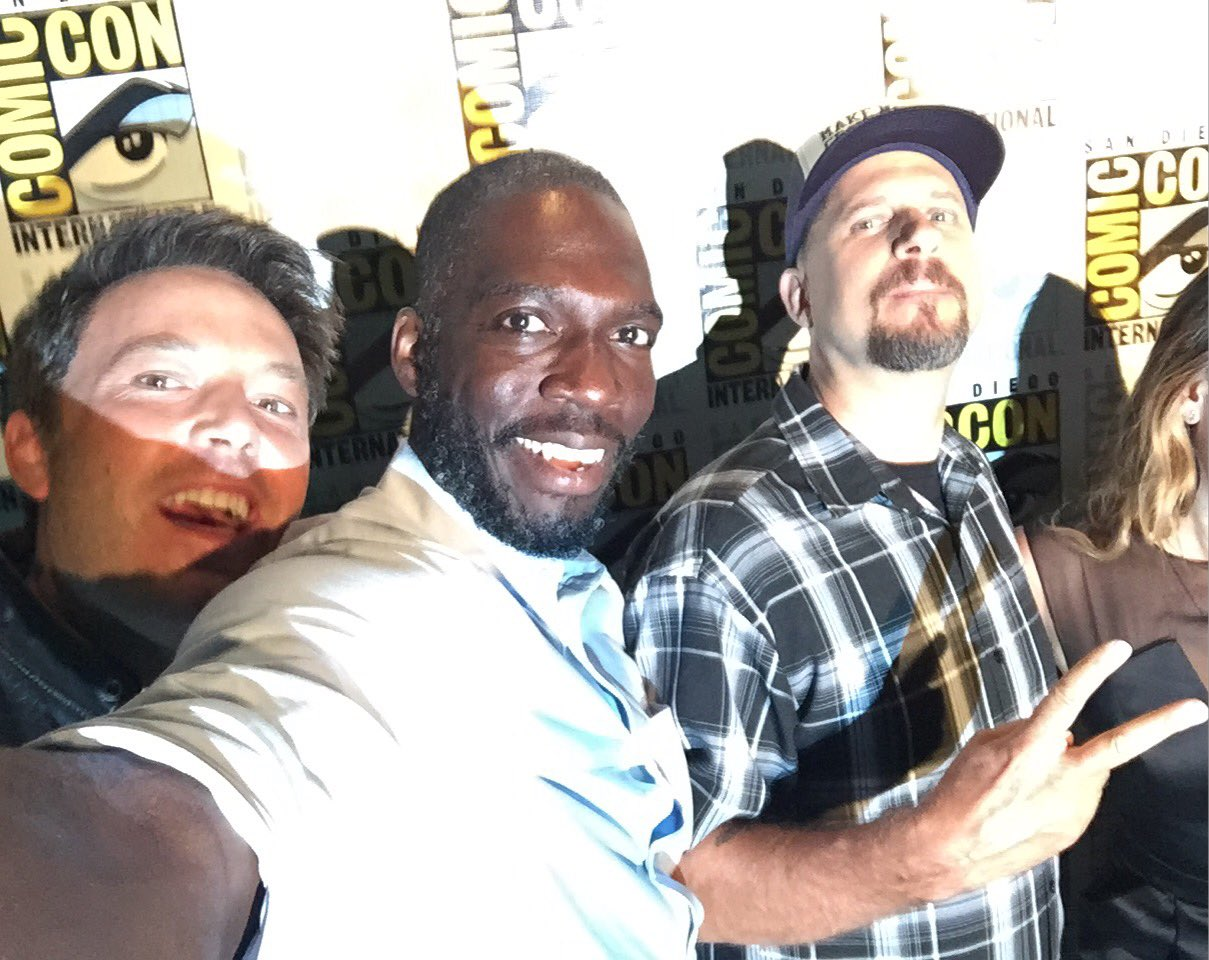 Rick Famuyiwa with other DCEU directors at SDCC 2016