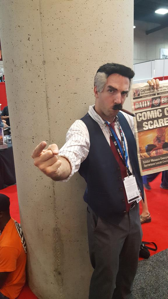 There's a great J Jonah Jameson stomping around in character. https://t.co/VGNbWR3eGH