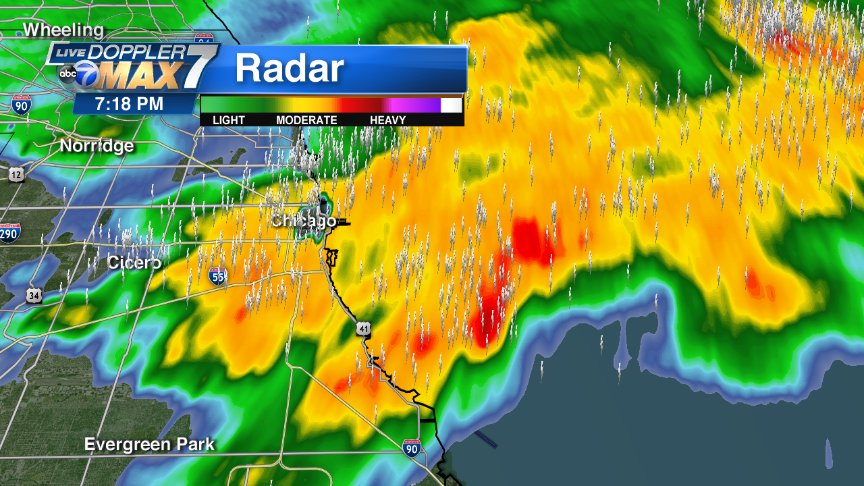 At 6:20 still stormy here in the city. You folks going to Coldplay concert, we might get a break from 7:30- 9:30