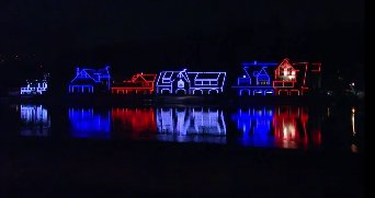 Boathouse Row lights up for the DNC! FOX29DNC DemsinPhilly