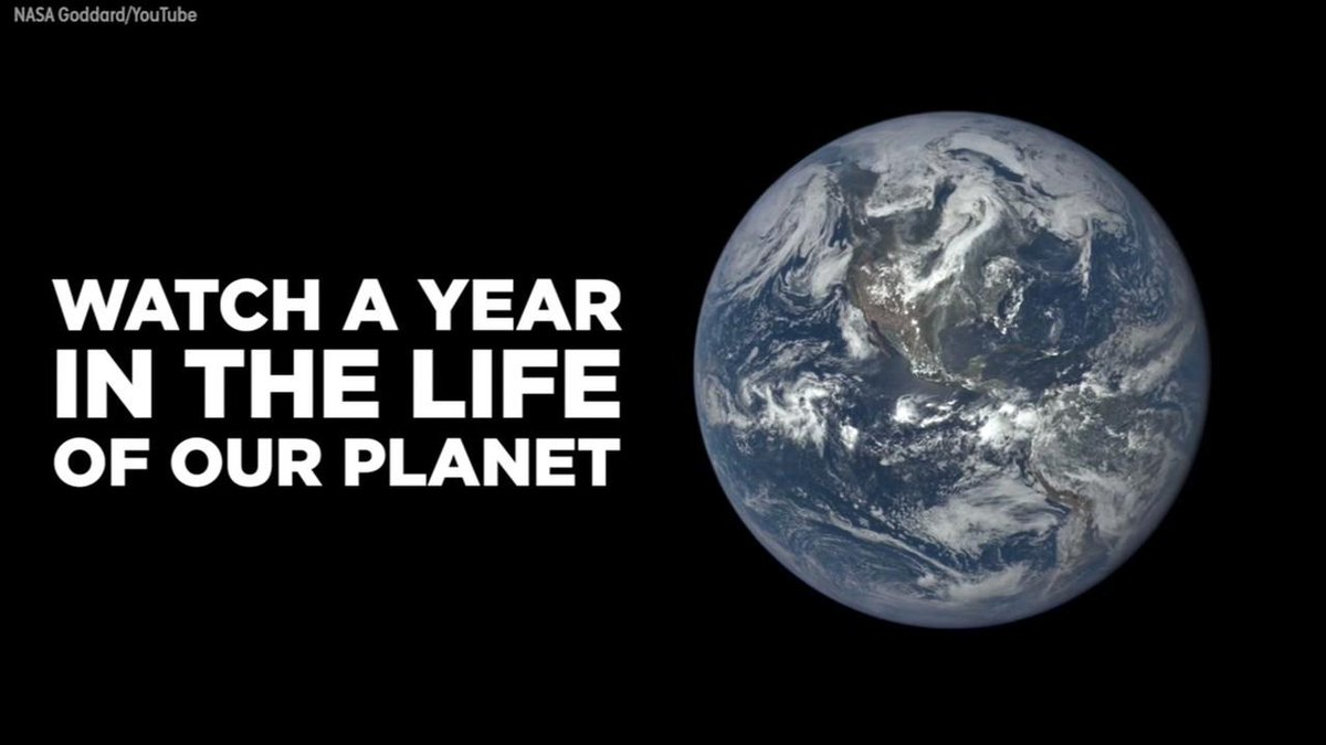 A remarkable time-lapse shows a year in the life of planet Earth.