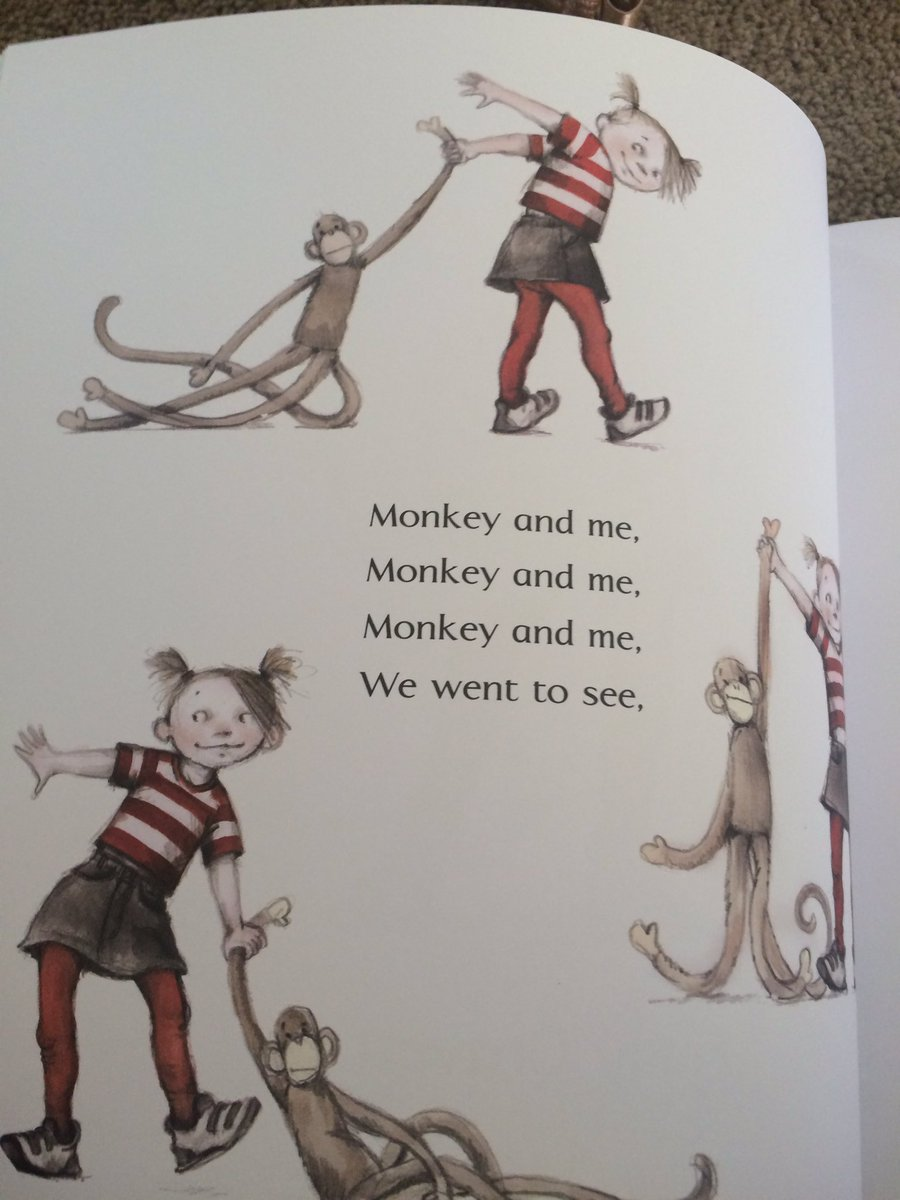 My new fav core vocab book- Monkey and Me by Emily Gravett - see, me, we, to #aacsummit16