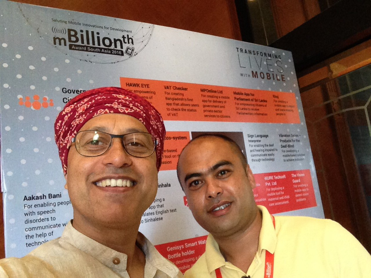 "FocusOne of Nepal says ""In Nepal V had 26 PMs in 18 yrs"" that motivates them to make apps & win at #mBillionth2016 https://t.co/rmrcEjaWyG"