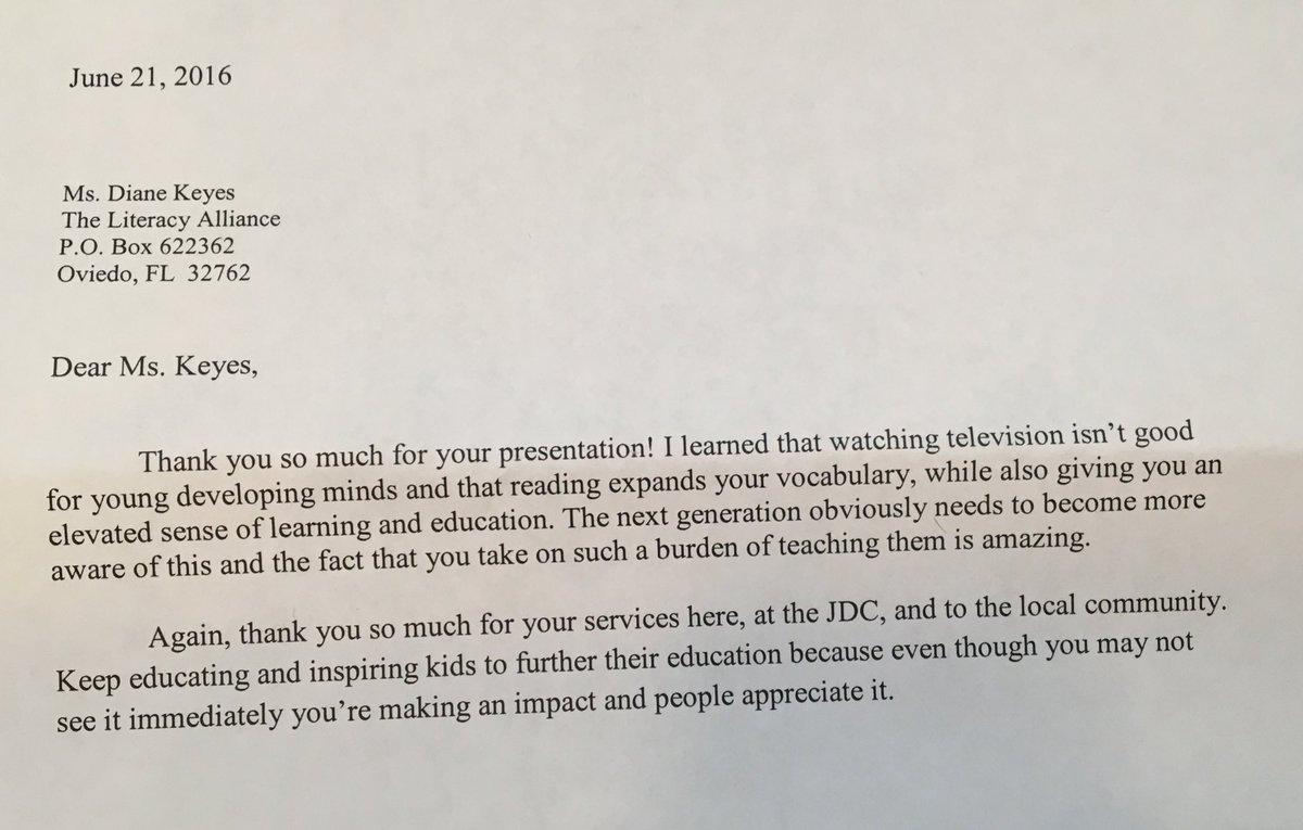 literacy alliance on twitter thank you juvenile detention center for your thank you letters you inspire me