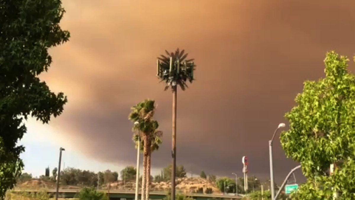Evacuations ordered as SandFire burns near Santa Clarita