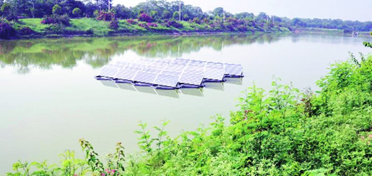 Floating solar power plant commissioned at Dhanas lake in Chandigarh
