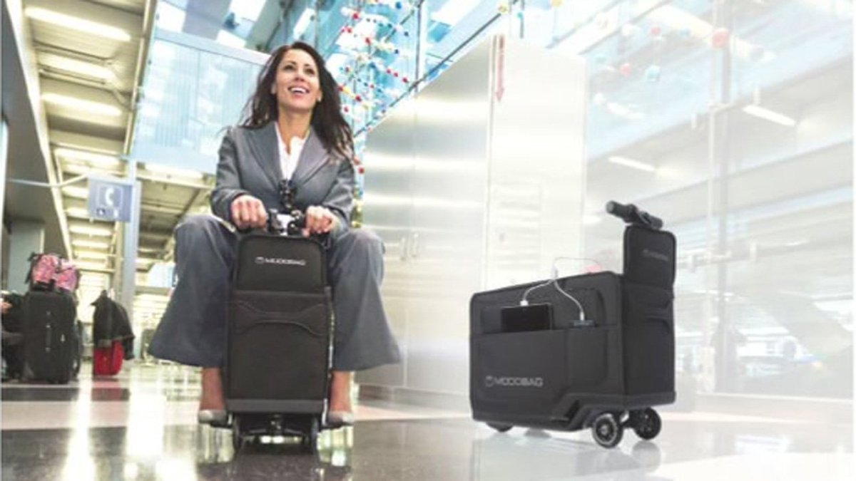 Awesome: @modobag rideable luggage makes connecting flights easier. More: abc13
