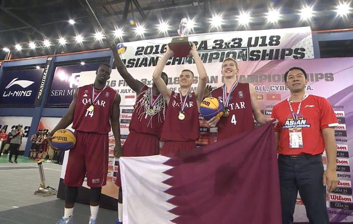 عنابي الشباب لكرة السلة يتوج بلقب البطولة الآسيوية 3×3