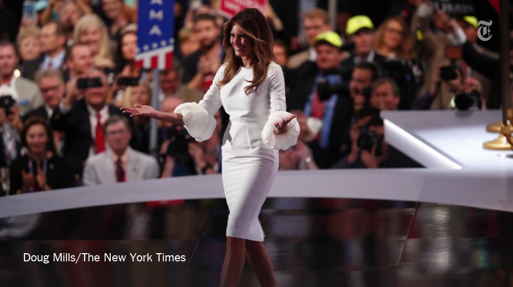 Melania Trump's #RNCinCLE speech raised questions about originality, but her outfit didn't https://t.co/L73kKSfOGs https://t.co/rnEWWyfVMX