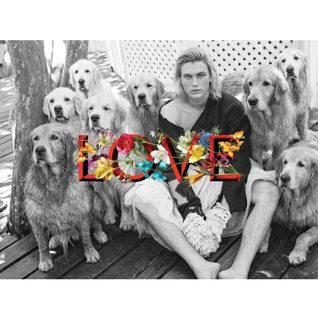 """""""You can never have enough dogs in your life""""-Bruce Weber shoots Charlie Kennedy for #LOVE16 https://t.co/OSIZ04dC8z"""