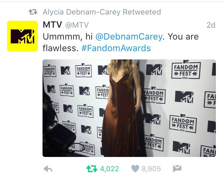 Whoever runs the MTV acct seems to be crushing on Alycia lol