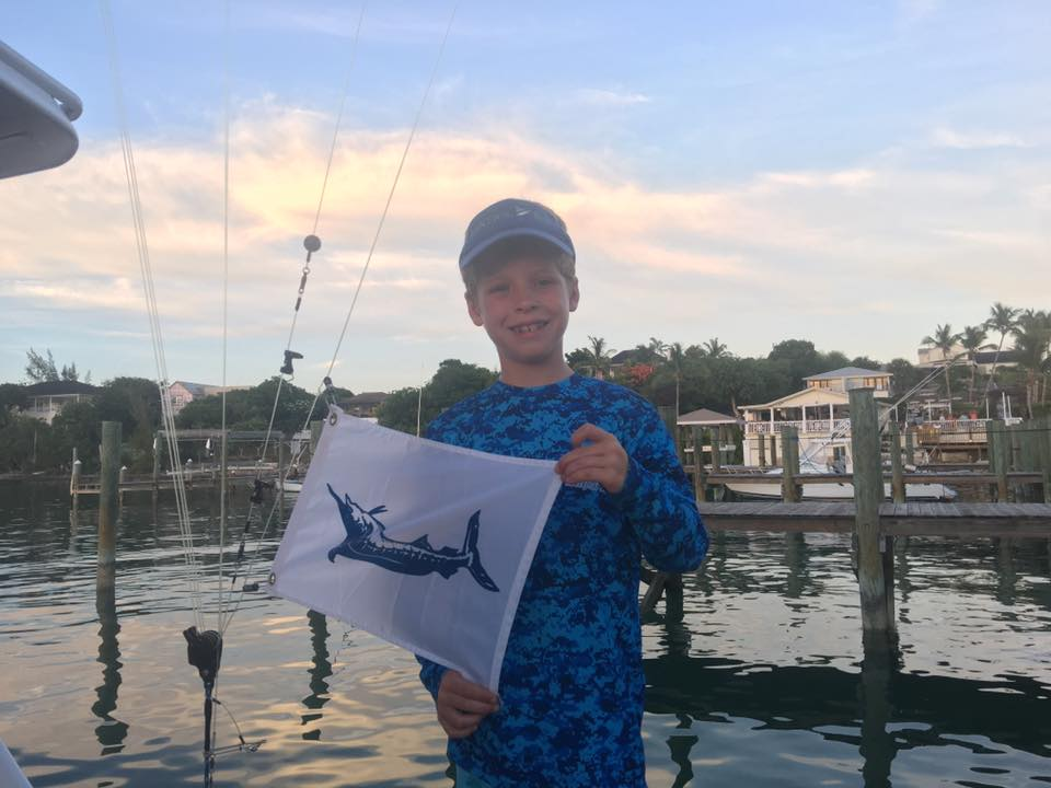 Harbour Island, Bahamas - Congratulations to Brody Levin for releasing his 1st Blue Marlin on Ma Sheila.
