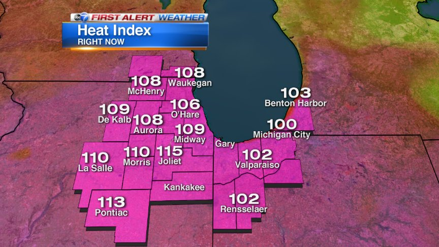 I think most agree that this is way too hot. These are the heat indexes right now. Storms r beginning to develop
